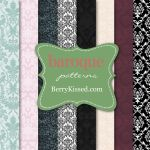 Baroque seamless background patterns by BerryKissed