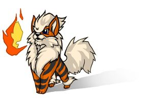 Little Arcanine by SadWhiteRaven