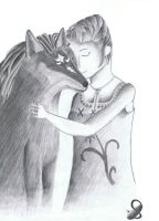Wolf-Link and Ilia by Saliona93