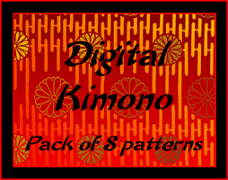 Digital Kimono Patterns by bakenekogirl