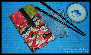 Sushi Pattern Cell Phone Case by airlobster