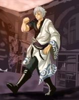 Gintoki Walking Casually by Graphic--Ops