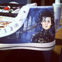 Tim burton Shoes side 1 by loudsilence21