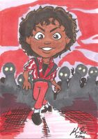 MJ Thriller Art Card by kevinbolk