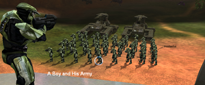 Halo-A boy and his army by CD-Hunter00