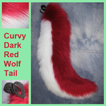 Curvy Dark Red Wolf Tail by Lascivus-Lutra