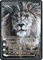 Magic Card Alteration: Ajani Goldmane 1-31-14 by Ondal-the-Fool