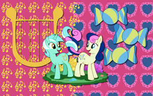 Lyra X Bon Bon wallpaper 3 by AliceHumanSacrifice0