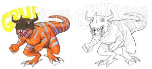 Agumon Digivolve To by kiraxlee
