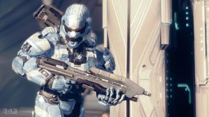 Halo 4 | Spartan lV Blue with Asault Rifle by Goyo-Noble-141
