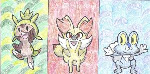 Pokemon X and Y Starters! by Stealthfang