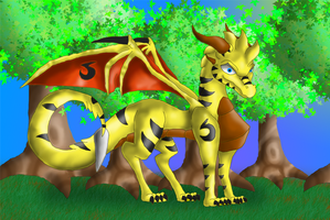 AT: The Golden forest by Hazelthedragoness