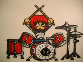 Scott Pilgrim vs The World Kim Pine on Drums by RetroNinNin