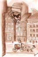Streets of Old Paris, 1832 by jennarotancrede