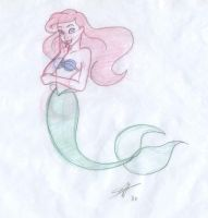 Ariel sketch by DisneyFan-01