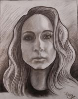Charcoal self portrait by Noxii