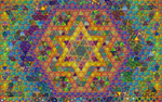 Magic Triangles Mosaic by 8DFineArt