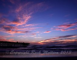 Flagler Beach at Sunrise. by SteelCowboy