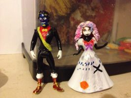 Don'tHugMeImScared- Custom Tony and Paige figures by RaptorAssassin84