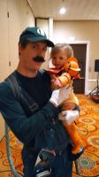 Luigi and Samus, father-daughter cosplayers! by JacobLionheart