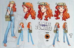 Gamers vs Zombies: Clair by AdamMasterman