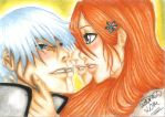 Commission: Ichimaru Gin and Orihime Inoue by NeoAngeliqueAbyss