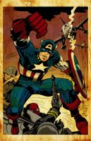 Kriby Captain America Vintage by waitedesigns