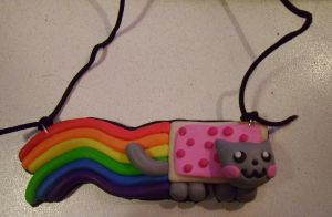 Nyan Cat Necklace by delicioustrifle