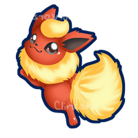 Flareon :pet my fluff: by Clinkorz
