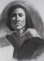 Charcoal Portrait 03 by jfarsenault