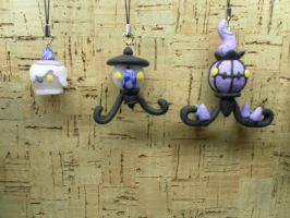 Scary candle charms by Jensoxen