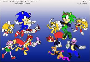 Sonic Heroes Vs Clonebots by Megamink1997