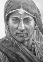 Woman Face form Rajasthan by mtart-cn