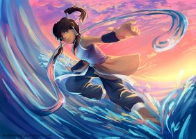 The Legend of Korra-Splash by Bambz-Art