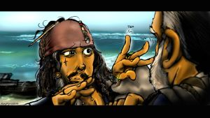 Jack Sparrow magic fingerwiggle by KomyFly