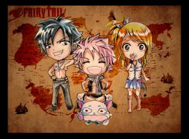 Chibi - Fairy Tail Team by SnowLady7