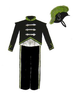Slytherin Band Uniform by figment1990