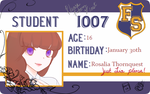 FS Academy Card - Rosalia Thornquest - doodled by Ouca