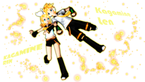 Kagamine Rin And Len by GumiCandy