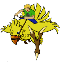 Guude and his Chocobo by EmC98