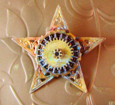Steampunk Sheriff's Star Pin by DreamSteam