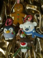 Needle Felt Christmas Decorations by Sarsie