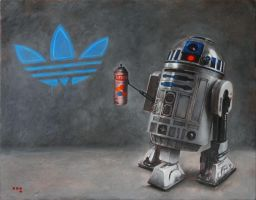 R2-D2 X Adidas by iconicafineart