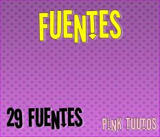 fuentes by : pink tuutos by Pilar12