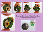Stone Pendant - Clockvine - SOLD by Bittythings