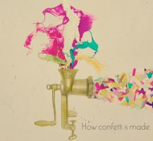 How confetti is made by AbsurdWordPreferred