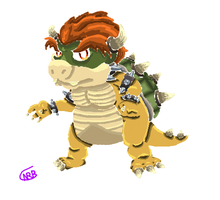Bowser (Lineless) by uhnevermind