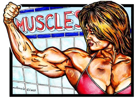 Lady with muscles by mattmuscle