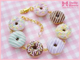 Cute Bracelet -Sweet Donuts- by Dolly House by SweetDollyHouse