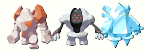 Regirock, Registeel, and Regice by scriptureofthescribe